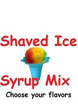 14 Bottles Shaved Ice Snow Cone Syrup Mix Concentrate Flavor Sno Balls Pint