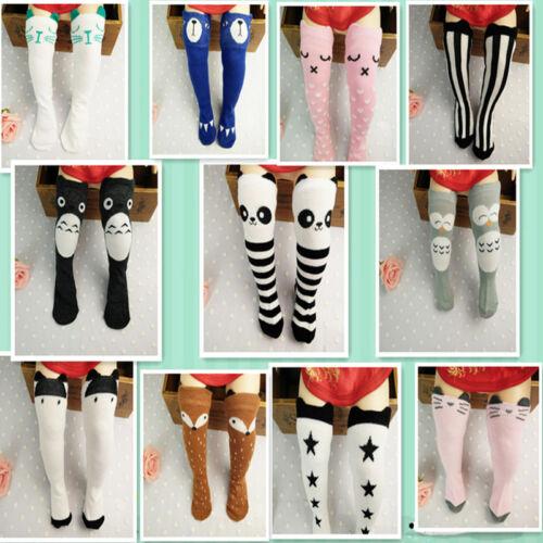 Baby Toddler Kids Girls Cotton Cartoon Knee High Socks Stockings 0-4 Year