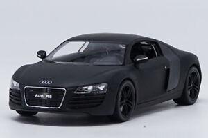 welly 1:24 audi r8 matte black diecast model car new in box | ebay