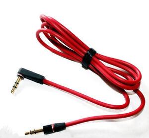 OriginalBeatsAudioCableCordWire3.5mmLJackForDrePro,Studio Solo Red