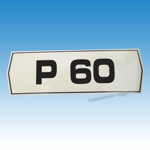 Holder p 60 tipos pegatinas pegatinas tractor remolcador 01558