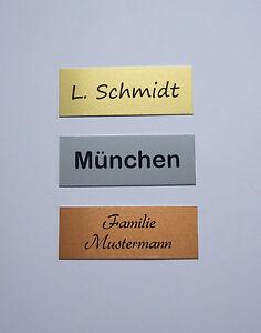 Metall-Klingelschild-Briefkastenschild-Tuerschild-Namensschild-Aluminium-80x30mm
