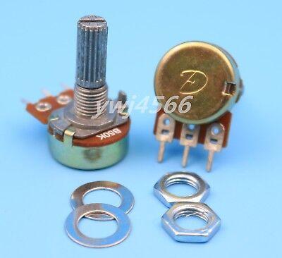 100Pcs B50K 50K Ohm Linear Taper MINI Potentiometer Pot 20mm 3Pin