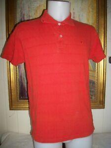 Polo-manche-courte-coton-orange-BURBERRY-Taille-L-brode-logo