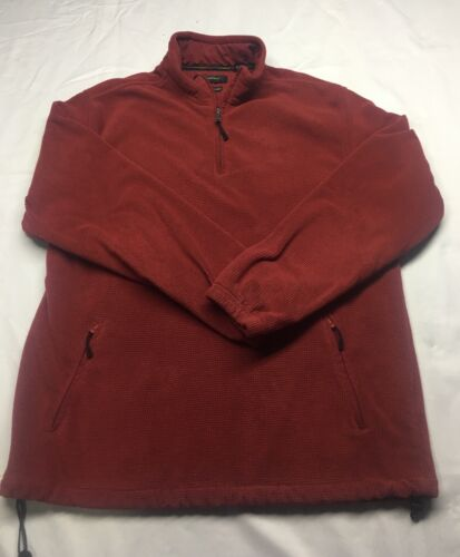 Greg Norman Pullover Fleece Water Repellant Red Stay Dry Men's Large