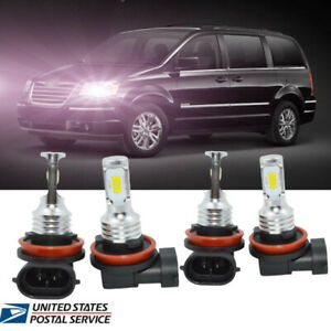Low Beam H9 H8 for 2008-2015 Chrysler Town Country H11 LED Headlight Bulb High