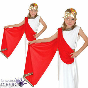 Girls-Childs-Greek-Goddess-Roman-Toga-Fancy-Dress-Egyptian-Costume-with-Laurel