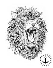 ►► Tatouage Temporaire Tattoo Ink Lion Style Bohème Summer