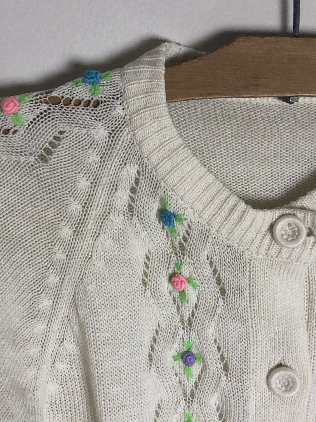 Vintage Cottagecore Fairycore Embroidered Floral … - image 2