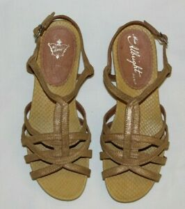 e6800b69eb9 Image is loading Womens-Miss-Albright-Anthropologie-Strappy-Sandals -Metallic-Gold-