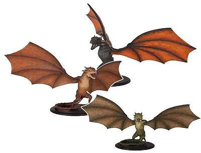 Game of Thrones SDCC COMPLETE Set DROGON RHAEGAL VISERION Dragon Statues LE1250