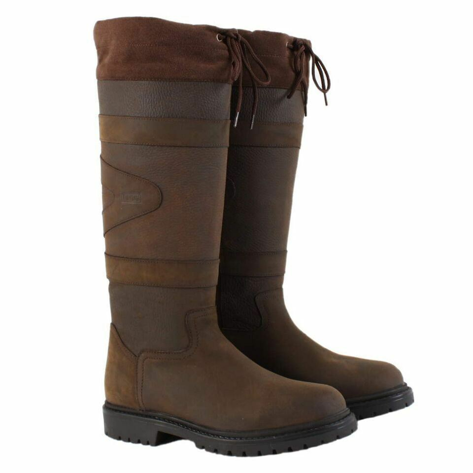 Toggi Quebec Riding Showing Outdoor Leather Waterproof Country Stiefel Größe 4-11