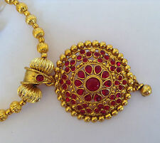 South Indian Traditional Jewellery gold TONE RED new design necklace set earring