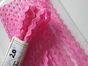 25-METER-ZACKENLITZE-Pink-Borte-Spitze-5mm-Ver-KOSTENLOS
