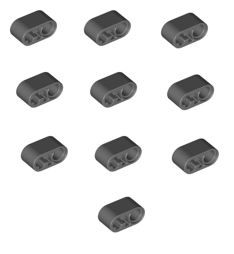 Lego Technik Liftarm breit dick Länge 2 1x2 blau 4 Stück »NEU« # 43857
