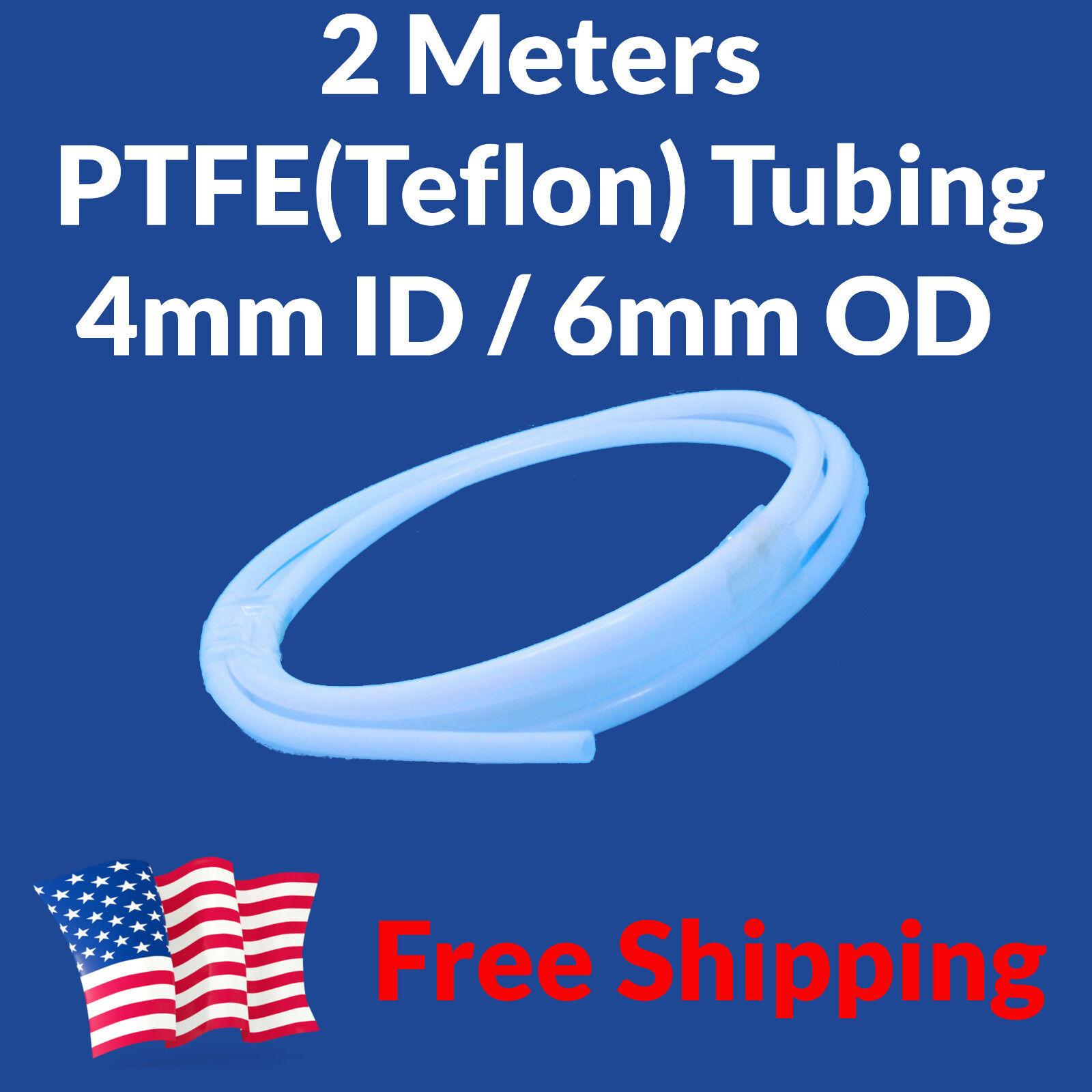 2M Teflon PTFE Tube Tubing + 2 PC6-M6 Fittings 4mm 6mm 4x6 Bowden Filament Guide