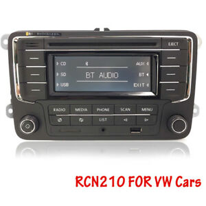 vw car stereo rcn210 bt cd sd mp3 usb aux golf touran. Black Bedroom Furniture Sets. Home Design Ideas