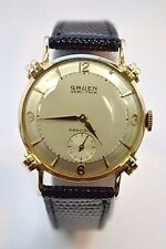 W512- Gruen Veri-Thin 14K Yellow Gold Precision Mens Dress Watch 17 Jewels