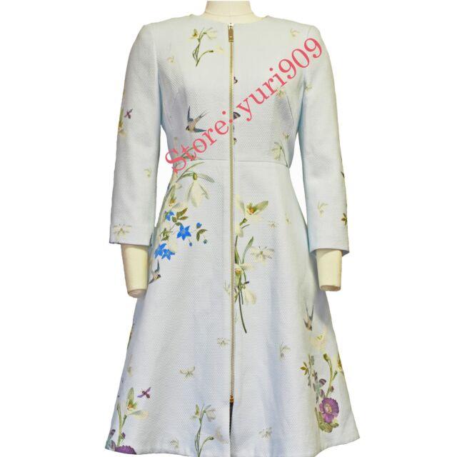 485ab550c Ted Baker London Baby Blue Racheel Spring Meadow Print Coat Size 2 (US 6)