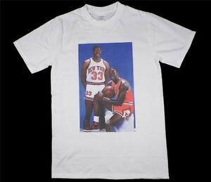 5102d38cbc6 Michael Jordan Patrick Ewing White T-Shirt Size S-XXXL supreme retro ...