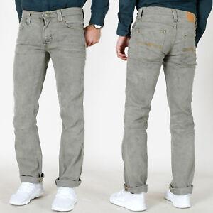 Neu-Nudie-Herren-Stretch-Jeans-Hose-Slim-Straight-Fit-Slim-Jim-Dirty-Look