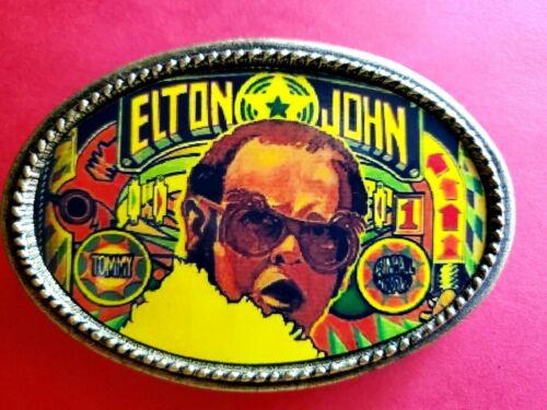 ELTON JOHN Rock Group  Epoxy PHOTO MUSIC BELT BUCKLE NEW!