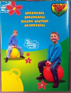 Sprungball mit Griff, Springbal , Hüpfball, rot ca 50cm