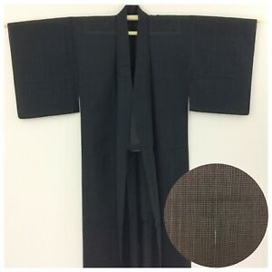 Japanese-men-039-s-kimono-for-summer-medium-short-blue-Japan-import-AA2586