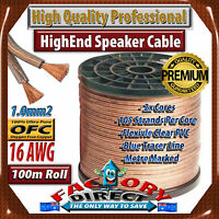 100m Roll Hq Professional 16awg Gauge 1.3mm2 100% Pure Copper Ofc Speaker Cable