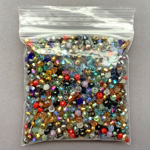 Destash Mixed 4mm Bicone Rondelle Chinese Crystal Glass Loose Sale Beads Per Pkg