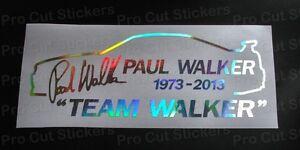WALKER-de-Paul-horizonte-Equipo-RIP-Holograma-Plateado-Cromado-Coche-Adhesivos