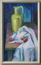 George Jensen c.1950 modernist oil painting still life Toledo Ohio artist