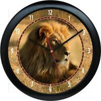 Lion 10 Wall Clock African Safari Wild Animal Print Zoo Jungle African
