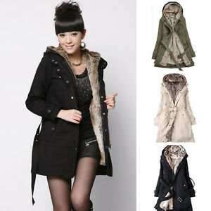 9366d666e Image is loading Fashion-Womens-Thicken-Warm-Winter-Coat-Hood-Parka-