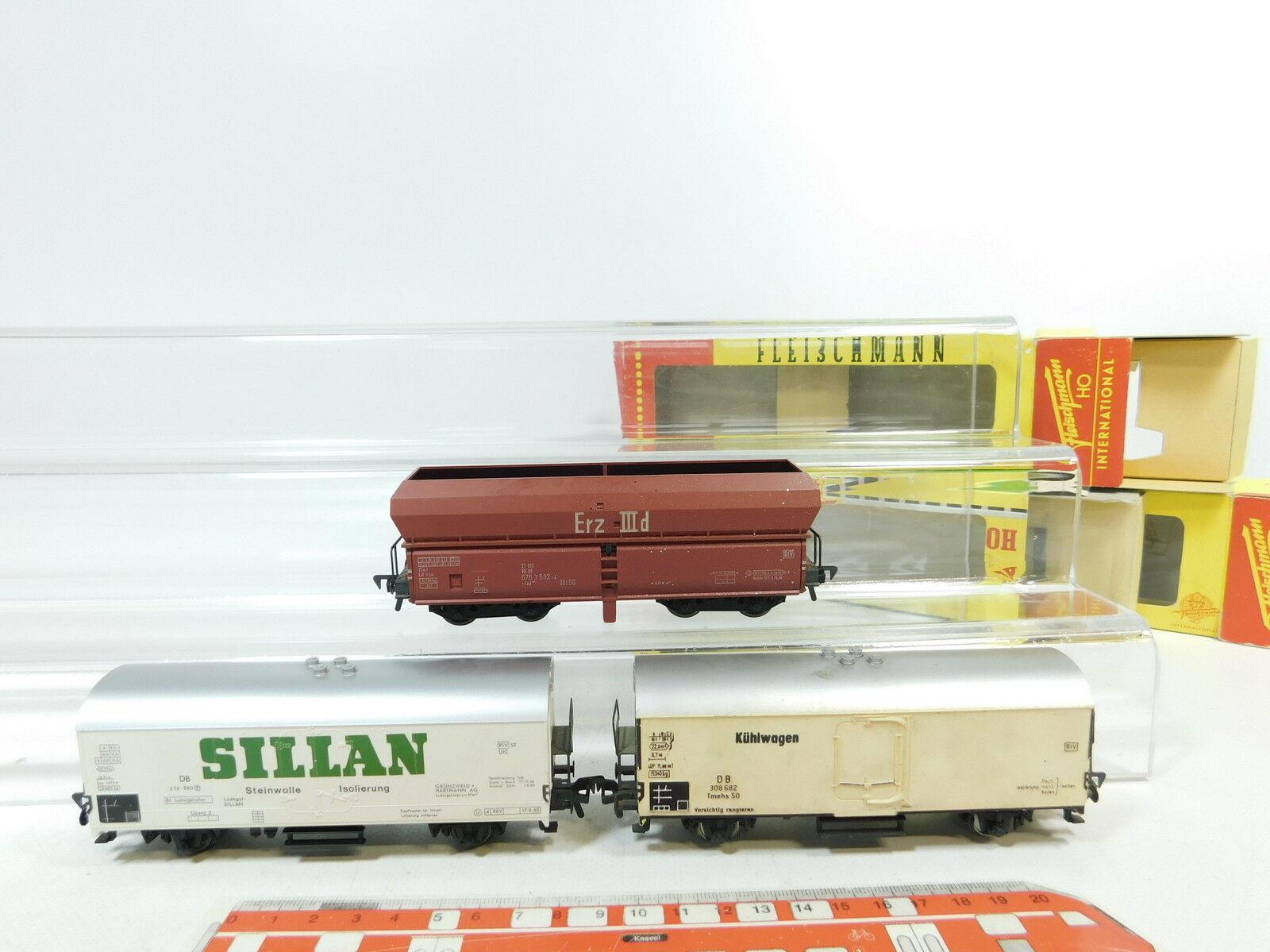 BB83-1 x Fleischmann H0 Dc Freight Wagon DB   1467+ 1467 S Sillan + Erz Iiid