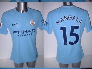 Manchester-City-Mangala-Nike-Player-Issue-Match-Football-Shirt-L-Aeroswift-Home