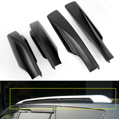 4pcs Black Roof Rack Bar End Cover Shell Replace For Toyota RAV4 2006-2012 USA
