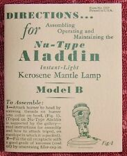ALADDIN BOOKLET / B BURNER reprint user manual alladin