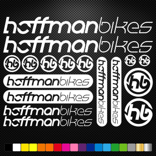 Hoffman Bikes Vinyl Decals Stickers Sheet Frame Cycle Cycling Bicycle Mtb Road