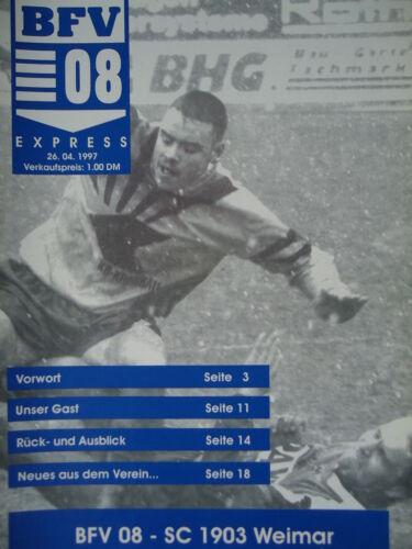Programm 1996//97 Bischofswerdaer FV 08 SC 1903 Weimar