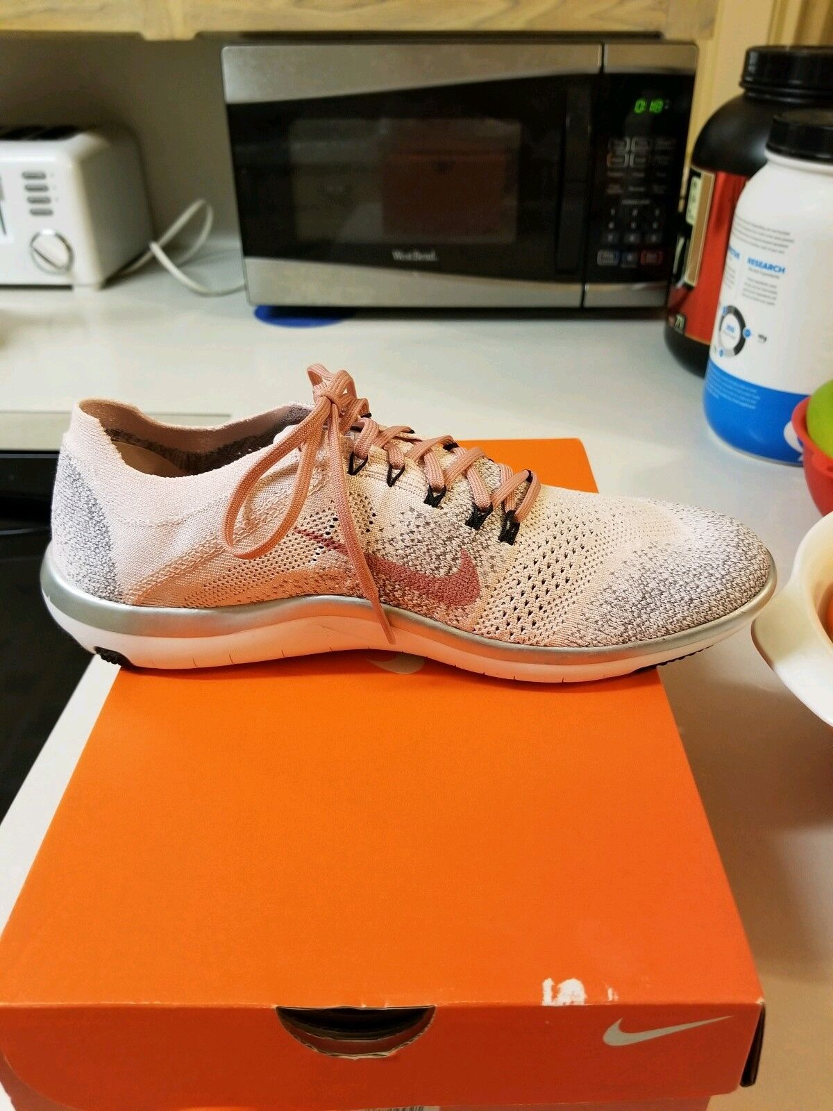 New Nike Free Flyknit Focus Focus Focus 2 Bionic Training Run shoes 11 bluesh Sunset Pink 449b67