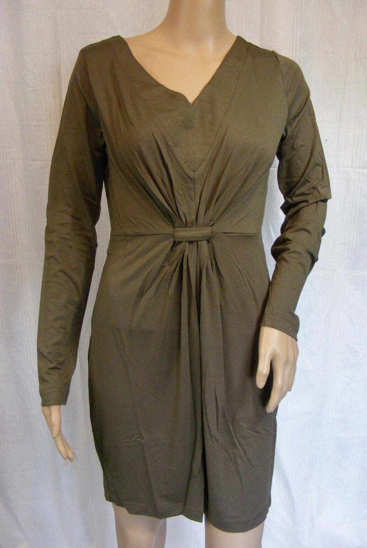 BON A PARTE   S  Trendiges Shirt - Kleid  khaki  langarm  NEU