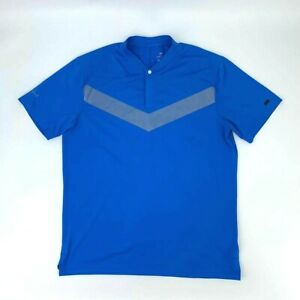 Nike-Polo-Shirt-034-Silverleaf-034-Men-039-s-Size-L-Blue-Short-Sleeve-Quick-Dry-Athletic