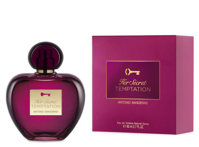 Detalles de HER SECRET TEMPTATION de ANTONIO BANDERAS Colonia Perfume 80 mL Woman