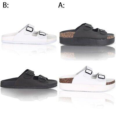 Para Mujer Corcho señoras confort Tiras Slip On Flip Flop Sandalias Zapatos Talla 38