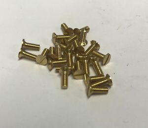 "5ba x 1//4/"" Countersunk Head Brass pack of 25"