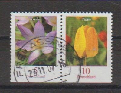 Briefmarken Natur & Pflanzen V3768 Brd Blumen Minr 2480 Du/2484 Du O Zusammendruck