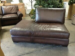 Pottery Barn Turner Leather Sofa Sectional Left Love Bumper Piece