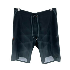 Billabong-Mens-Board-Shorts-Size-32-Black-Geometric-Drawstring-Closure