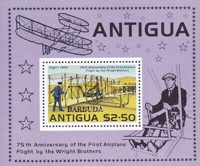 Antigua & Barbuda, Block Gebrüder Wright, Airplane, Flugzeuge, Postfrisch Buy One Give One